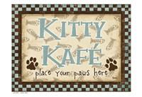 Kitty Kafe Blue Fine Art Print