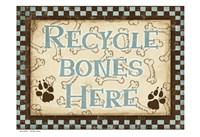 Recycle Bones Blue Fine Art Print