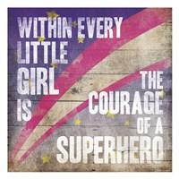Superhero Girl Mate Fine Art Print