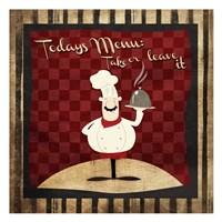 Chef Menu Fine Art Print
