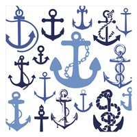 Nautical Set Blues Fine Art Print