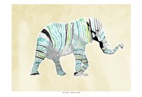 Elephant Multi Fine Art Print