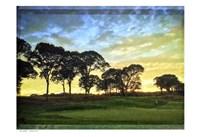 Golf Course Painted Border Fine Art Print