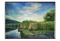 Rivers Edge Painted With Border Fine Art Print