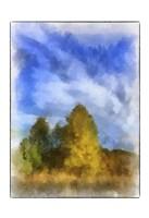 Trees Watercolor Border Fine Art Print