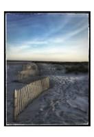 Sand Fence With Border Fine Art Print