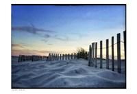 Sand Sunset Fence Border Fine Art Print