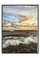 Crashing Waves With Warm Sky Fine Art Print