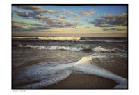 Lines And Waves With Border Fine Art Print