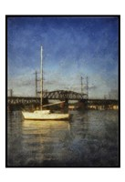 Sailboat Painted With Border Fine Art Print