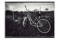 Bike BW With Border Fine Art Print