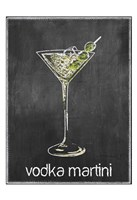 Vodka Martini Chalk Fine Art Print