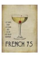 French 75 Framed Print