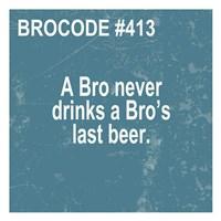 Bro Code 413 Fine Art Print