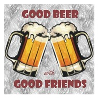 Beer and Friends Fine Art Print