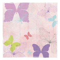 Butterfly Collage I Fine Art Print
