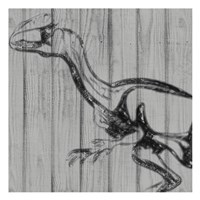 Dino On Wood II Fine Art Print