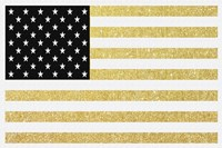 Gold Flag 1 Framed Print