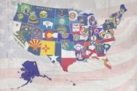 US State Flags Fine Art Print