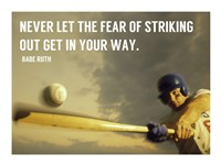 The Fear of Striking Out -Babe Ruth Framed Print