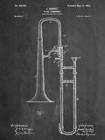 Slide Trombone Framed Print