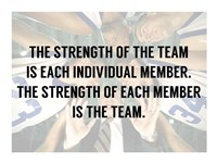 The Strength of the Team Framed Print