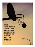 Expect Great Things Framed Print