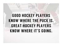 A Good Hockey Player Fine Art Print