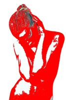 Red Drama Framed Print