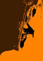 Jazz Orange 2 Fine Art Print