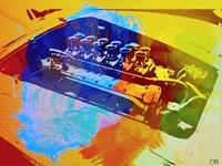 Ferrari Engine Watercolor Fine Art Print