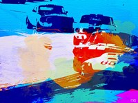 Mustang On The Race Track Watercolor Fine Art Print