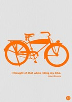 I Thought Of That While Riding My Bike Fine Art Print