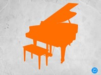 Orange Piano Fine Art Print