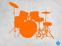 Orange Drum Set Fine Art Print