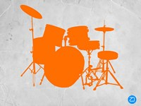 Orange Drum Set Fine Art Print
