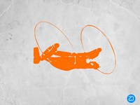 Orange Plane 1 Fine Art Print