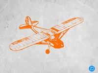 Orange Plane 2 Fine Art Print
