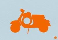 Orange Scooter Fine Art Print