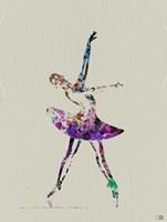 Ballerina Watercolor 4A Framed Print