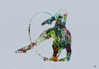 Dancer Watercolor 3 Framed Print