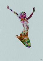 Dancer Watercolor 5 Framed Print