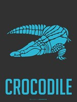 Crocodile Blue Fine Art Print
