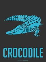 Crocodile Blue Framed Print