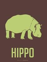 Hippo Green Framed Print