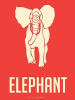 Elephant White Fine Art Print