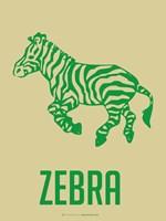 Zebra Green Framed Print