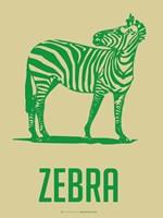 Zebra Green 2 Fine Art Print