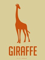 Giraffe Orange Fine Art Print