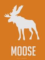Moose White Fine Art Print